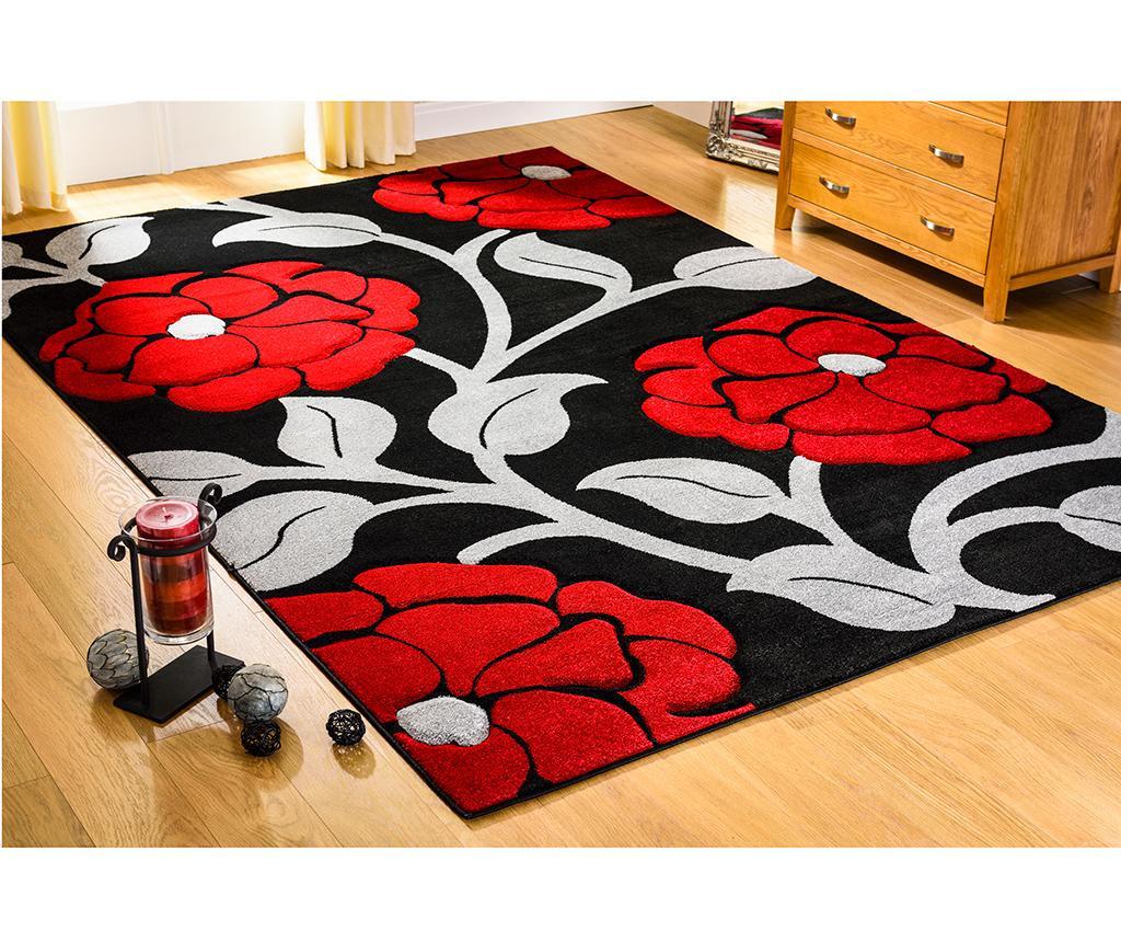 Vine Black & Red Szőnyeg 120x170 cm