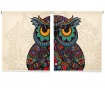 Set 2 rolo zaves Colorful Owl 100x200 cm