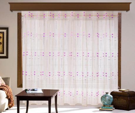 Záclona Esmeralda Pink 200x260 cm