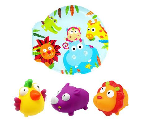 Animalia Könyv és 3 db játék fürdőkádba