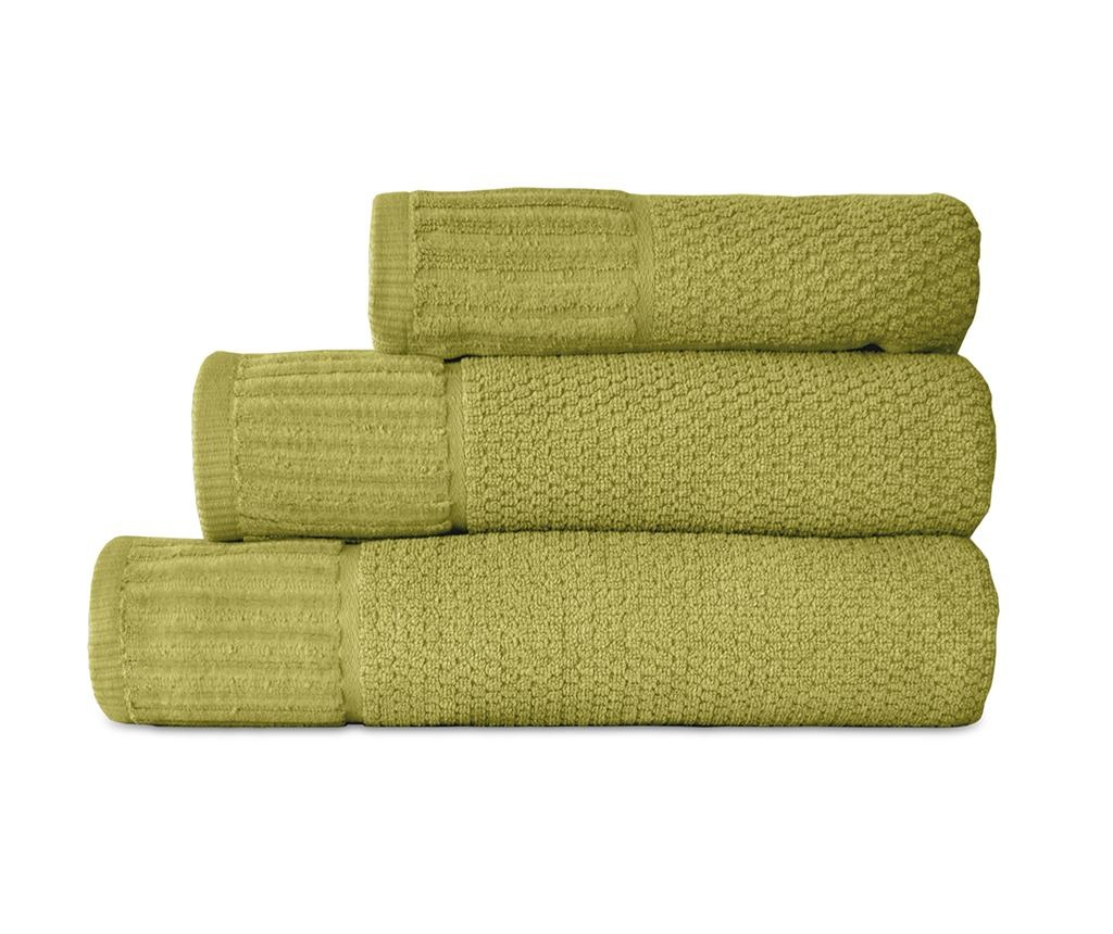 Suprem Green 3 db Fürdőszobai törölköző