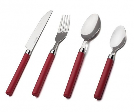 Set tacamuri 16 piese Perfect Red