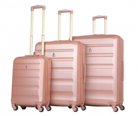 Zestaw 3 walizek na kółkach Adelaide Rose Gold