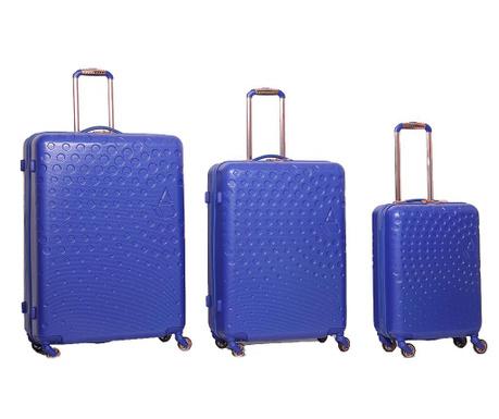 Zestaw 3 walizek na kółkach Aquaris Royal Blue