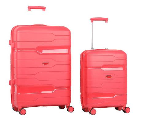 Zestaw 2 walizek na kółkach Circuit Merlot