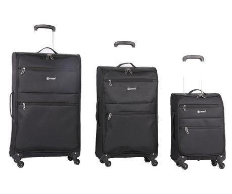 Zestaw 3 walizek na kółkach Algarve Black
