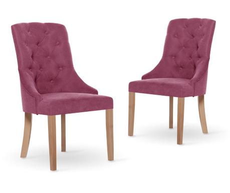 Set 2 stolov Jalouse Maison Chiara Fuchsia