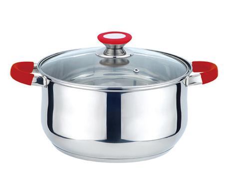 Posuda za kuhanje s poklopcem Mule  Adon Red 4.3 L