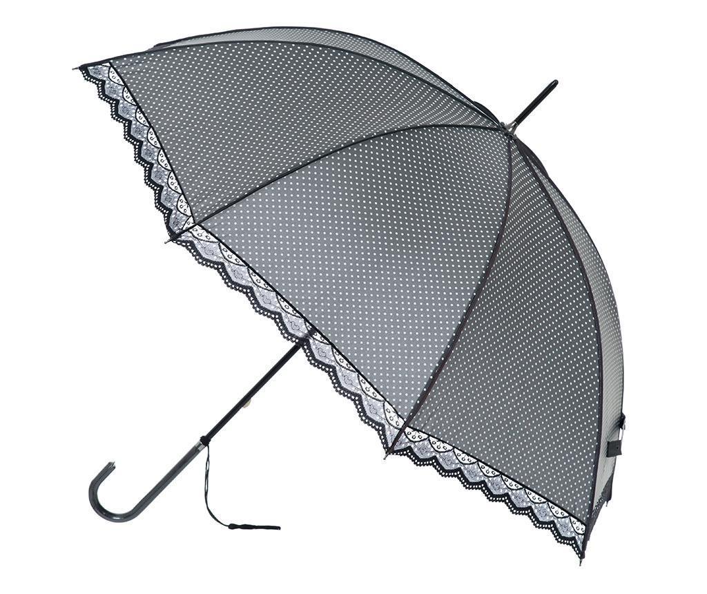 Umbrela Polka Lace Grey