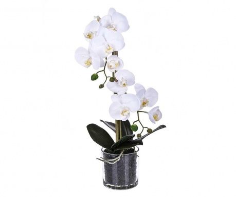 Floare artificiala in ghiveci Phalaenopsis White M