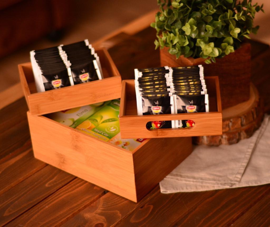 Set 3 cutii pentru ceai Javier