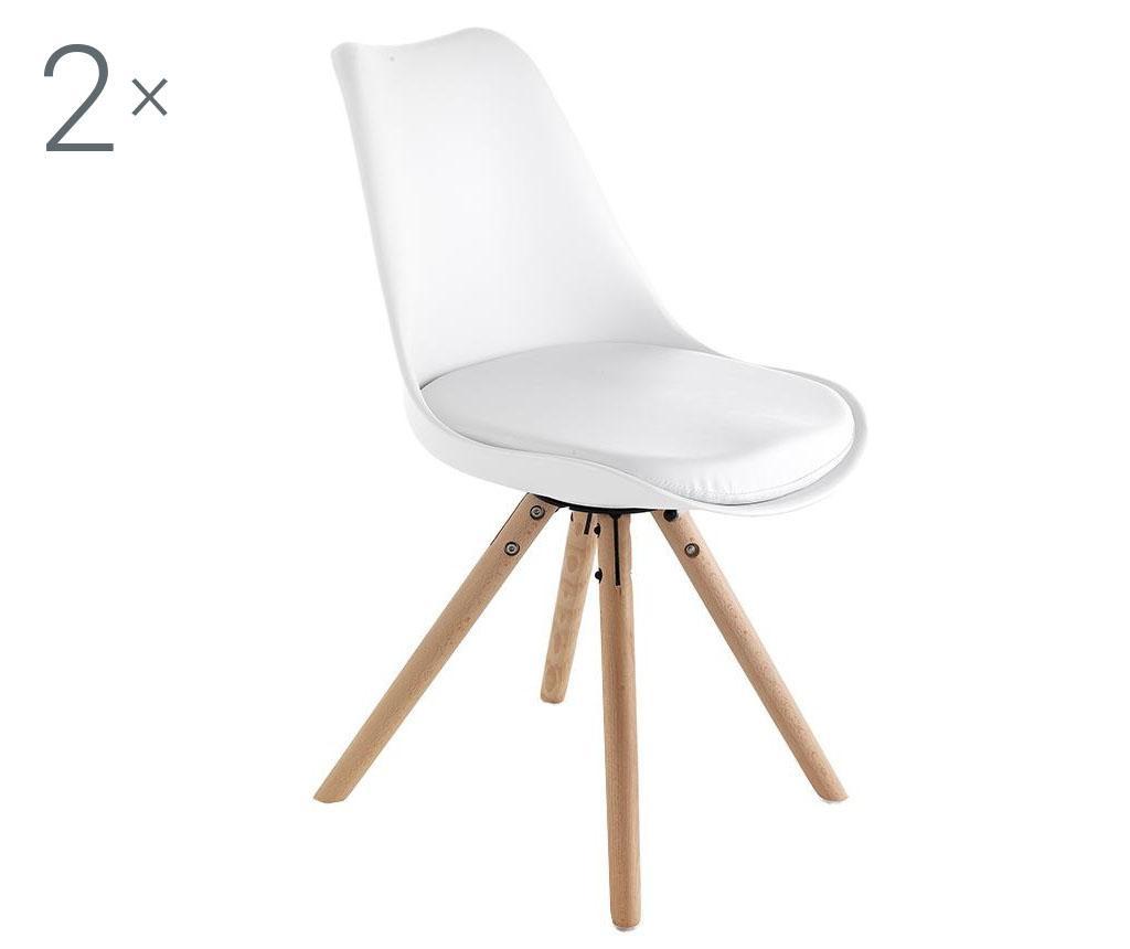 Set 2 scaune Kiki White