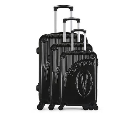 Osaka Grey 3 db Gurulós bőrönd