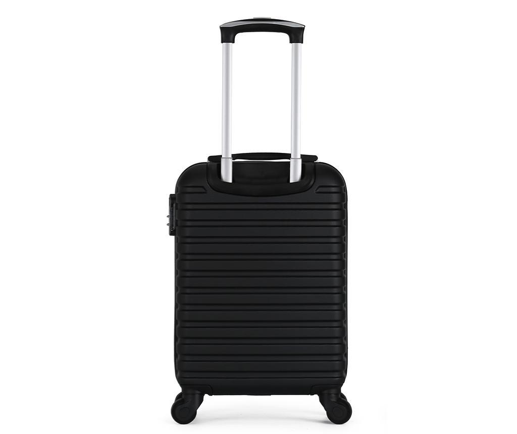 Putna torba s kotačićima Montreal Black 35 L