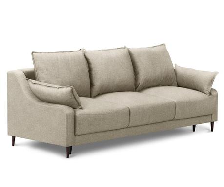 Ancolie Beige Háromszemélyes kihúzható kanapé
