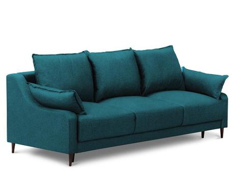 Rozkładana kanapa trzyosobowa Ancolie Turquoise