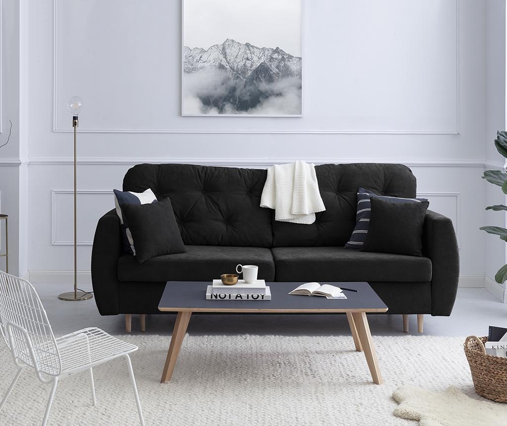 Kauč trosjed na razvlačenje Orchid Black