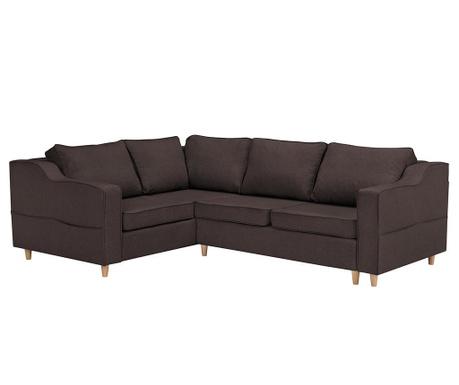 Разтегателен ляв ъглов диван Jonquille Chocolate
