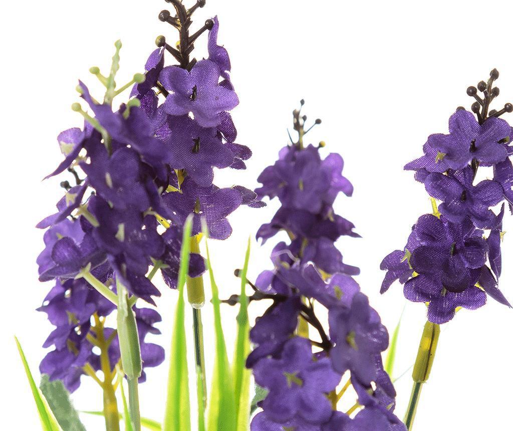 Planta artificiala in ghiveci Lavander Square Purple