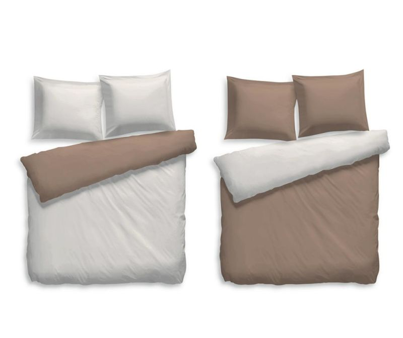 Set de pat Reverse Single Percale Extra Preston Sand Taupe