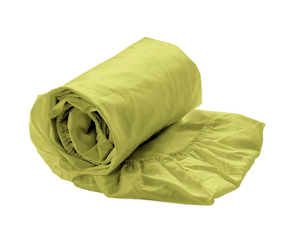 Plahta s elastičnom gumicom Percale Green Oasis 180x200 cm
