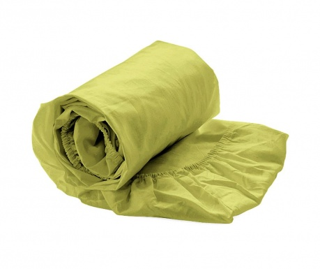 Долен чаршаф с ластик Percale Green Oasis 180x200 см