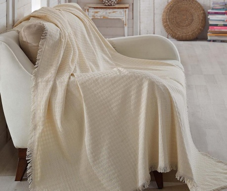 Cuvertura Cizgili Cream 180x230 cm