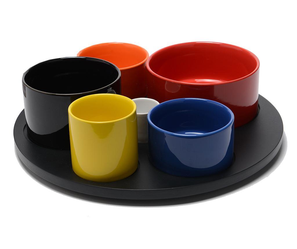 Set pentru aperitive 7 piese Cubisime Colors