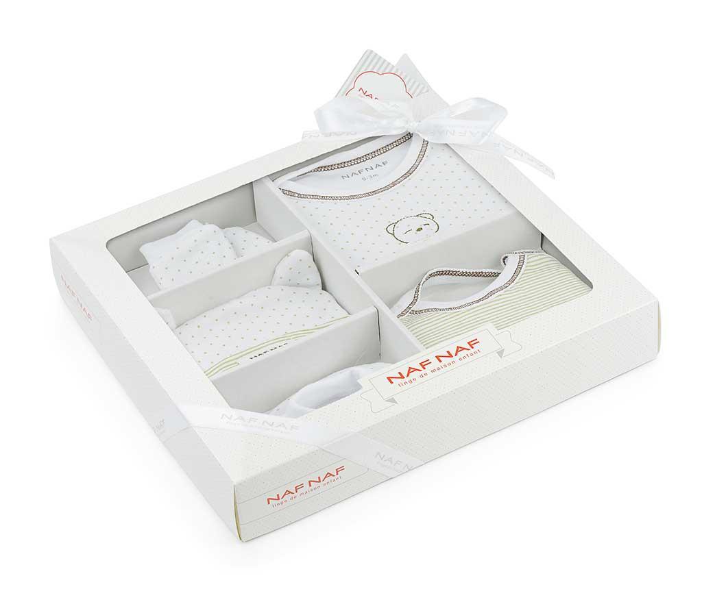 6-dijelni set odjeće za bebe Dreams Beige 0-1 mj.