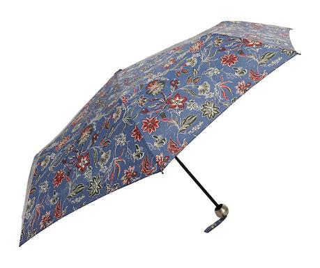 Teleskopický deštník Fleurs Blue