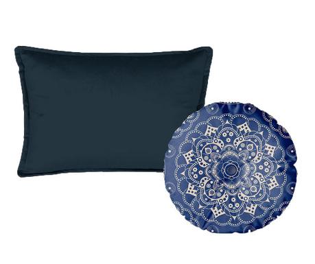 Sada 2 dekoračních polštářů Mandala