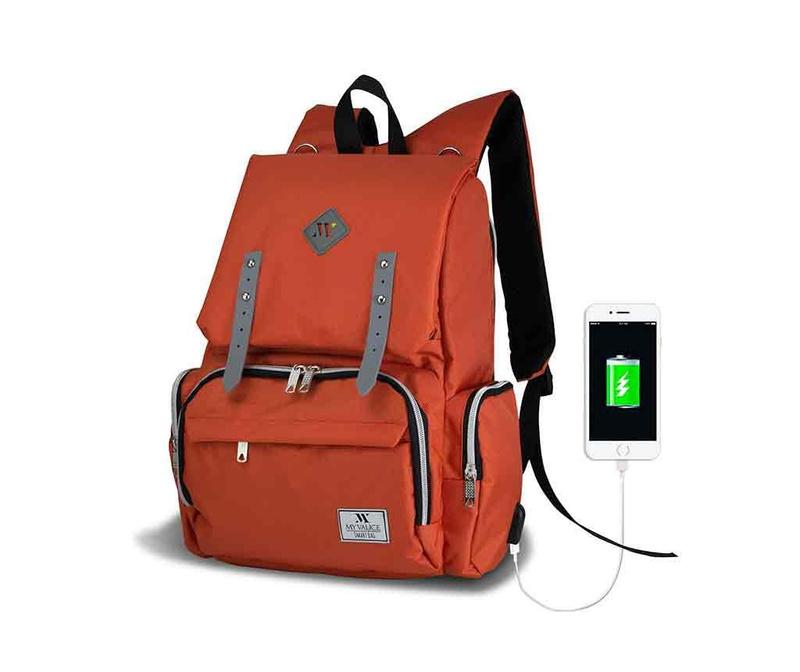 Rucsac pentru scutece USB Ciaran Orange
