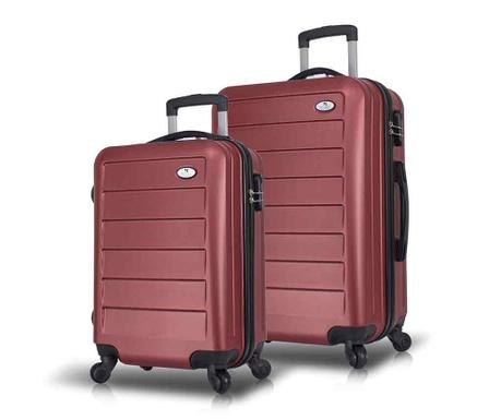 Set 2 kovčkov na kolesih Iuki Claret Red
