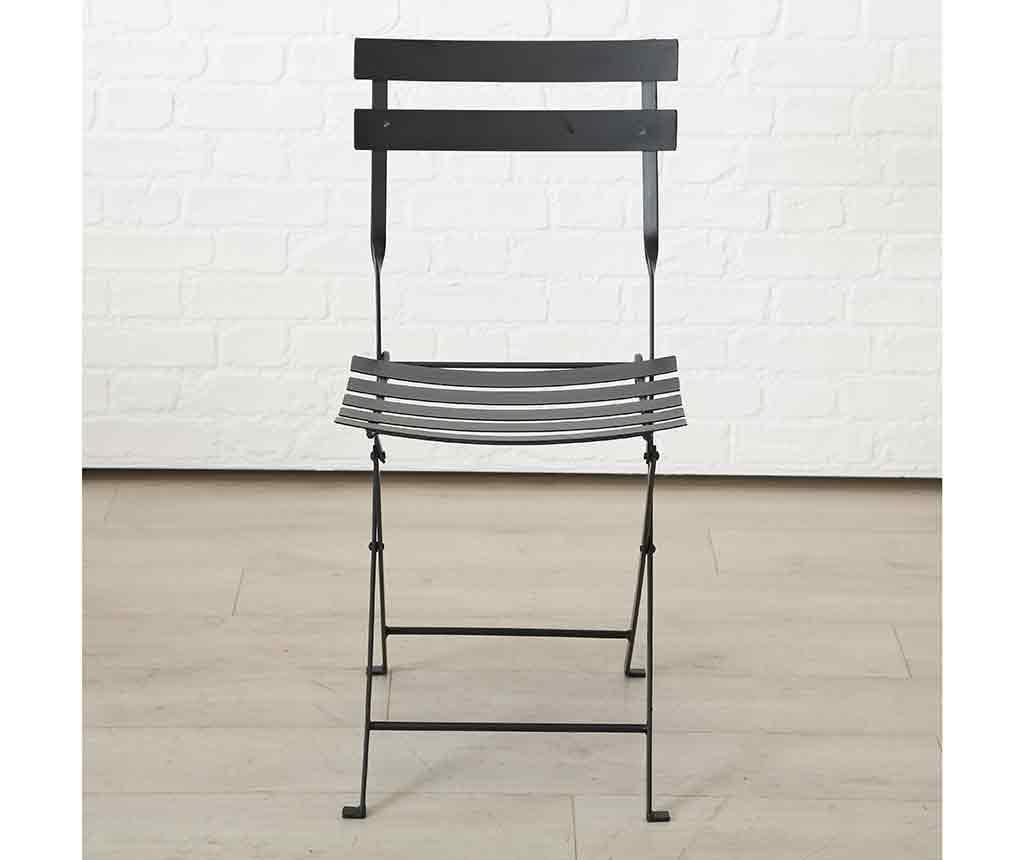 Set stol i 2 stolice za vanjski prostor Rico Black