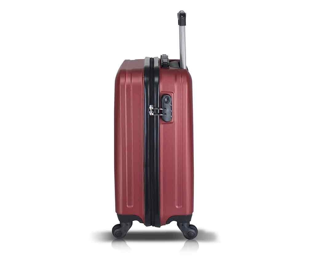 Iuki Claret Red Gurulós bőrönd