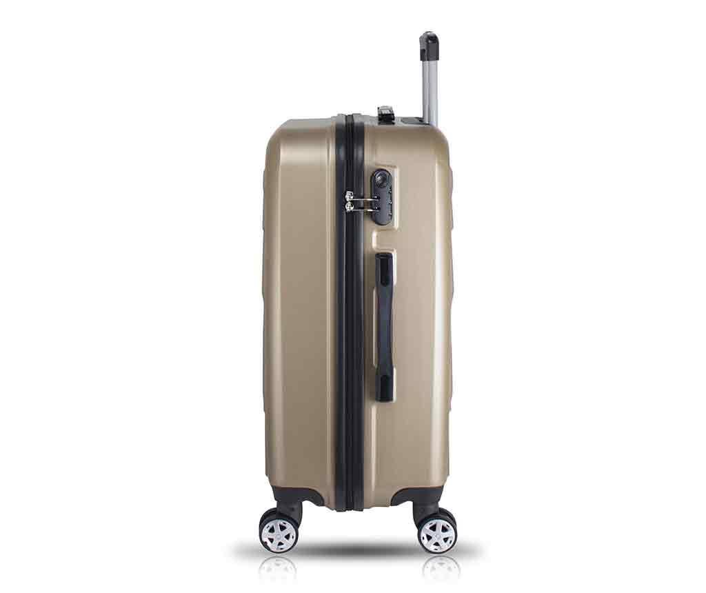 Alice Wide Gold Gurulós bőrönd és kozmetikai táska
