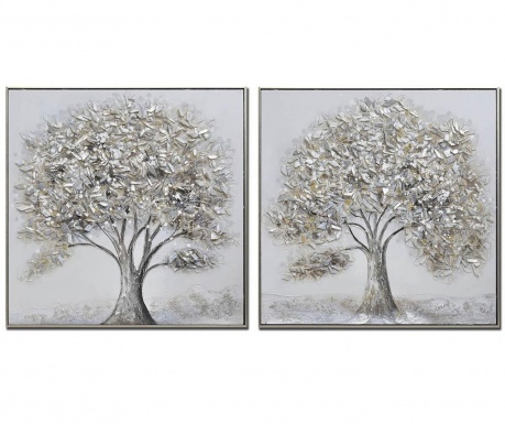Set 2 tablouri Winter 82x82 cm