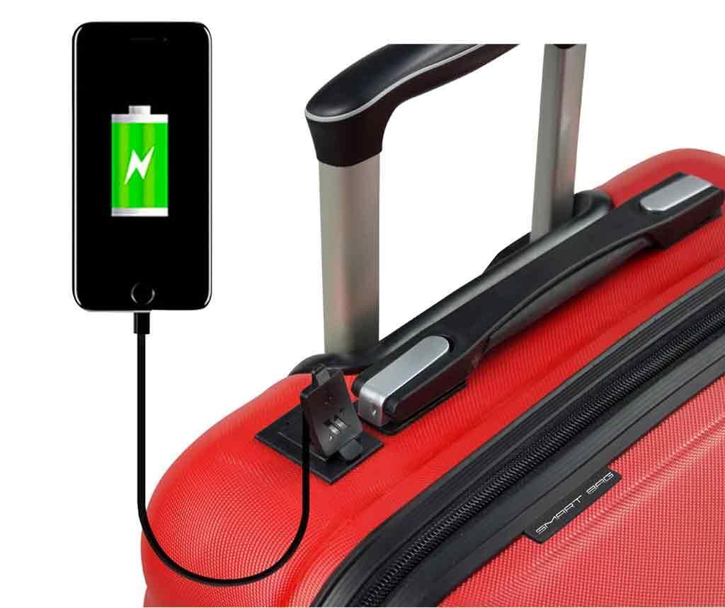 USB Hugh Red Gurulós bőrönd