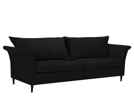 Peony Black Háromszemélyes kihúzható kanapé