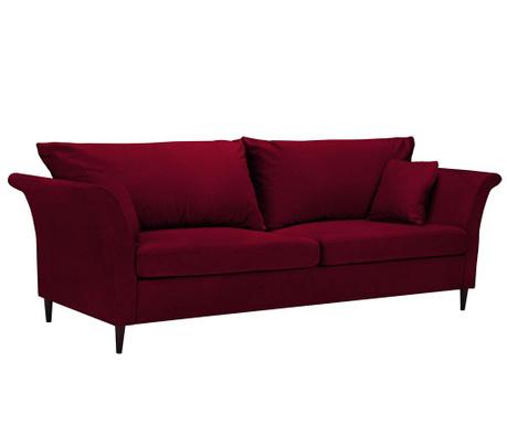 Canapea extensibila 3 locuri Pivoine Red