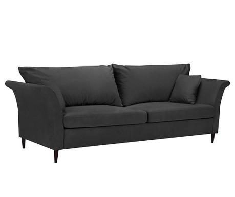 Pivoine Dark Grey Háromszemélyes kihúzható kanapé