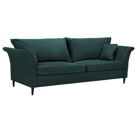 Pivoine Petrol Háromszemélyes kihúzható kanapé