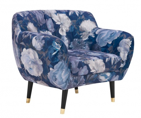 Fotel Benito Floral Pattern