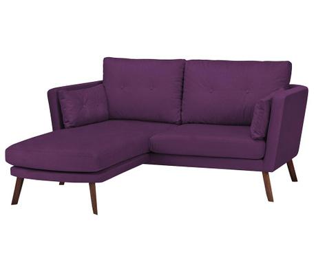 Ляв ъглов диван Elena Purple