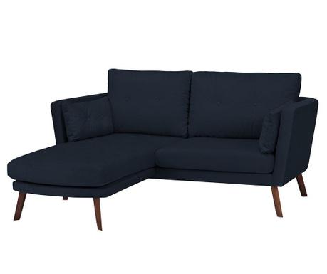 Ляв ъглов диван Elena Dark Blue