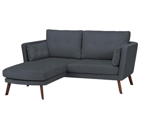Ляв ъглов диван Elena Dark Grey