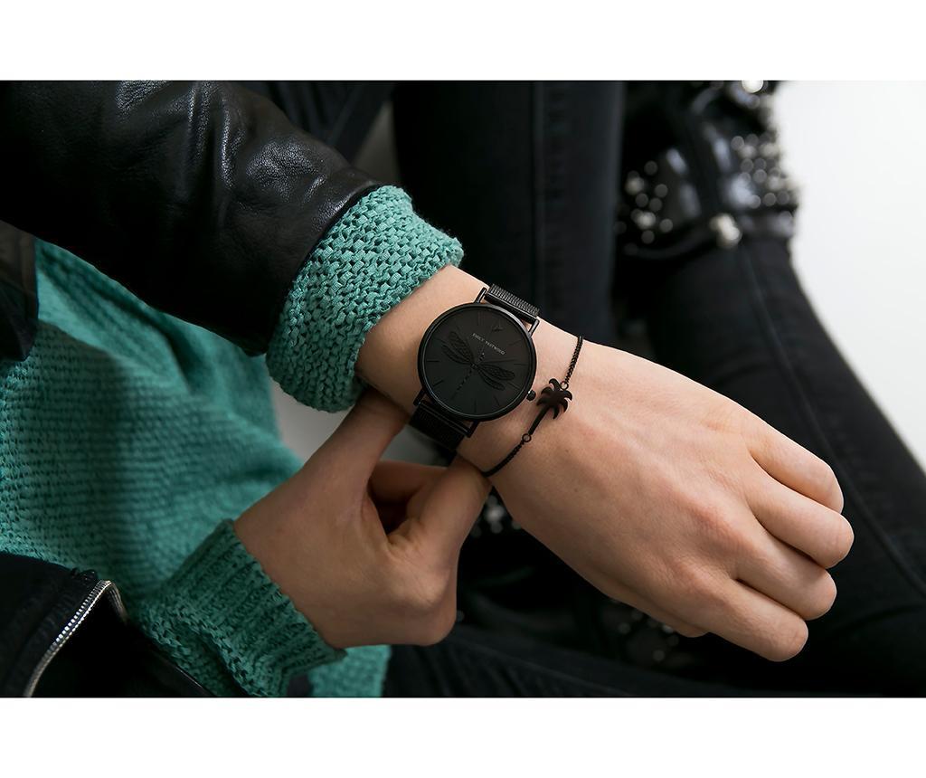 Ženski ručni sat Emily Westwood Dragonfly Black