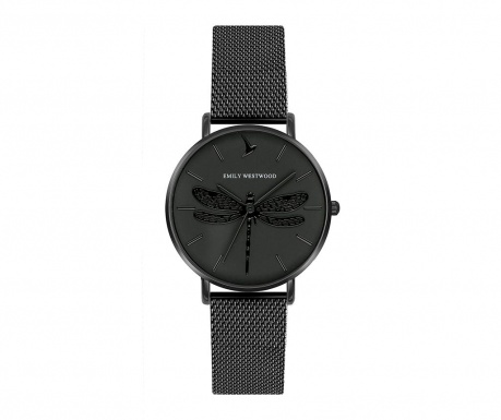 Γυναικείο ρολόι χειρός Emily Westwood Dragonfly Black