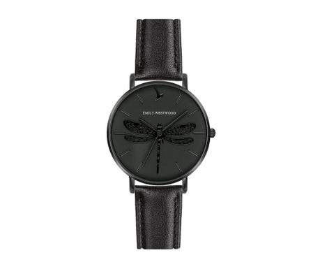Γυναικείο ρολόι χειρός Emily Westwood Dragonfly Black Band