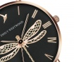 Ceas de mana dama Emily Westwood Dragonfly Black Leather